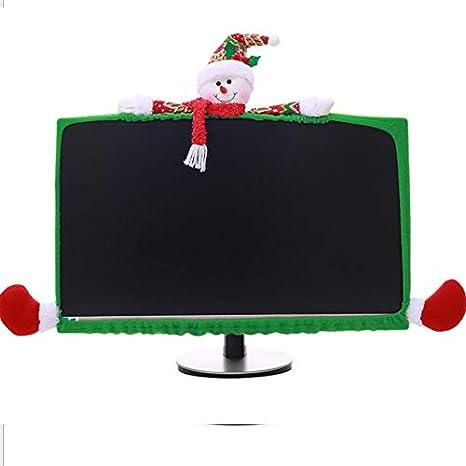 Decoración de Navidad tridimensionales Equipo de dibujos animados Los casos no tejido ordenador de vestir HAPPYXMAS Explosión decoraciones de Navidad tridimensionales cajas de la computadora de dibujo: Amazon.es: Deportes y aire libre