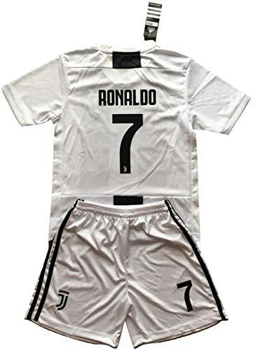 Shirt Home Kit - NGNWear Ronaldo #7 Juventus 2018-2019 Youths Home Soccer Jersey & Shorts Kit (9-10 Years Old)