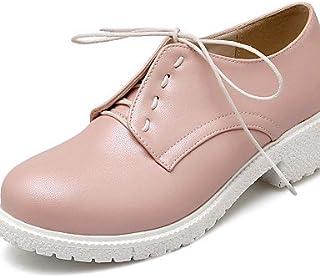 IOLKO Njx/femme Chaussures Chunky Talon Bout Rond Oxfords Bureau & carrière/robe rose/violet/blanc MJKIK