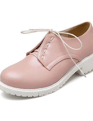 eu35 cn34 us5 uk6 Zapatos Rosa purple cn39 Vestido Morado Oxfords us8 purple Trabajo y Blanco us8 eu39 eu39 Semicuero mujer purple de Punta ZQ cn39 Redonda Robusto Tacón Oficina uk6 uk3 Afqfwp