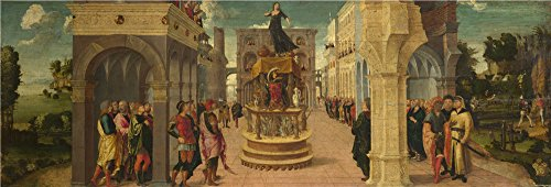 Oil Painting 'Dido's Suicide 16th Century, Liberale Da Verona' 18 x 53 inch / 46 x 135 cm , on High Definition HD canvas prints is for Gifts And Dining Room, Game Room And Living Room decor, prices