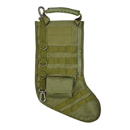 Sikye Tactical Bag Accessories,Christmas Stocking Pre-Filled with Gifts Military Storage Case with Handle (Green)