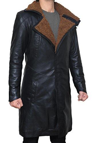 BlingSoul Blade Fur Coat Men Costume - Boys Black Leather Coat (2XL) [PU-BLRN-BL-2XL] by BlingSoul (Image #1)