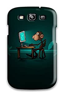 Fashion BWjwtJI2298CKhYD Case Cover For Galaxy S3(smart Monkey Computer Pc Green Brown Animal Other)