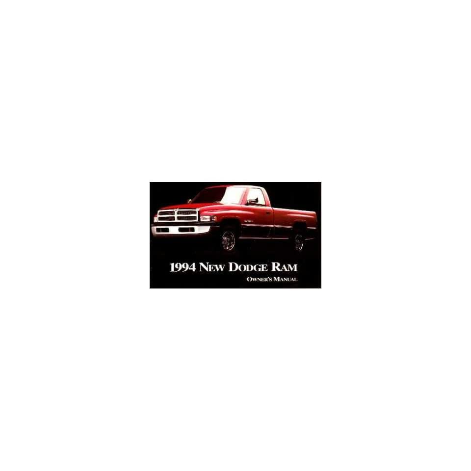 1994 Dodge Ram Truck Owners Manual User Guide Reference Operator Book Fuses