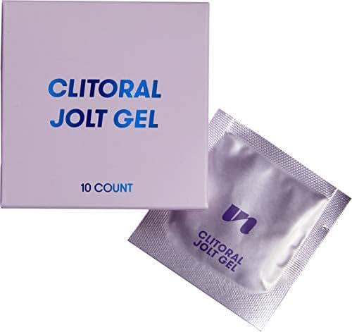UNBOUND Jolt Gel - Water Based Lube - Vegan, Organic, Paraben Free, Menthol Free Oil Lubricant for Women (10 Pack)