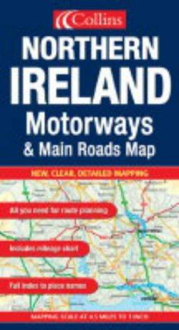 Northern Ireland (Motorways & Main Roads Map)