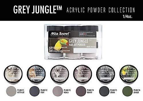 (Mia Secret Acrylic Powder - Grey Jungle 6pcs OR Single JAR - 2018 Collection! (Grey Jungle 6 Piece))