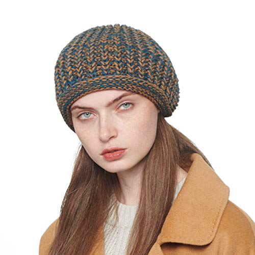 b1e5ba95104 CACUSS Women s French Beret Hat Autumn Knitted Winter Warm Cap Beanie Hat