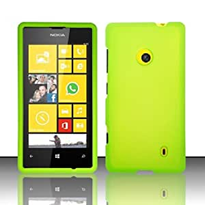 Cellphone Cover For Nokia Lumia 521 (T-Mobile/MetroPCS) Rubberized Cover - Neon Green