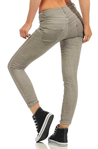 40 Gris M Turquoise Femme Fashion4Young Jeans turquoise wFxTHpTq8