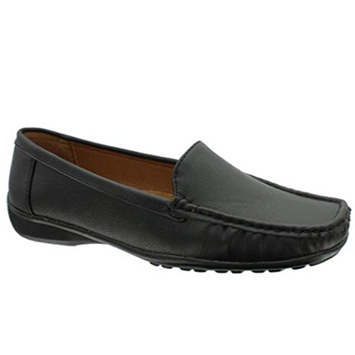 Pierre Dumas Hazel-7 Frauen Casual Flexsole Slip On Loafer Schwarz