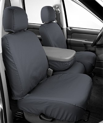 Covercraft SS2427PCGY SeatSaver Front Row Custom Fit Seat Cover for Select Cadillac/Chevrolet/GMC Models -  Polycotton (Grey) Covercraft Cadillac Seat Cover