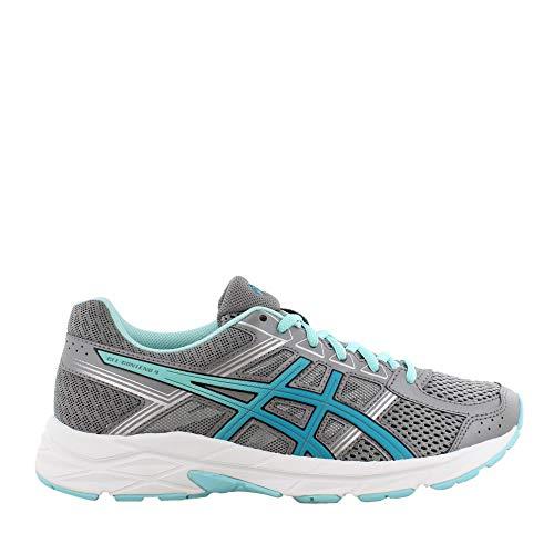 ASICS Women's, Gel Contend 4 Running Shoes Gray Aqua 8.5 B