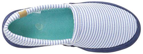 Women's Blue Slipper Summerweight Stripe Moc Acorn BU6q0Fd