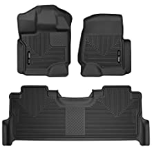 Husky Liners Fits 2017-19 Ford F-250/F-350 Crew Cab - with factory storage box X-act Contour Front & 2nd Seat Floor Mats