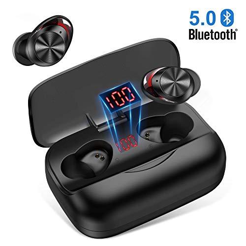 🥇 Auriculares Bluetooth 5.0 Orit Auriculares inalámbricos Bluetooth In-Ear HiFi Sonido Estéreo 126H reproducción Cascos inalámbricos Bluetooth con 3000mAh Caja de Carga para Andriod y iOS