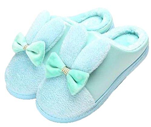 Blubi Womens Cute Doll Slippers Rabbit Slippers Blue v7HFeP