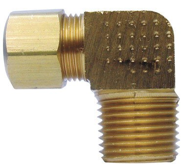 - Anderson Brass Male Compression Elbow