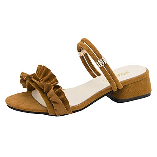 Sandales Mocassins Casual Brown Plates Chaussures Femme Slipper Femmes Dames On0t4S0