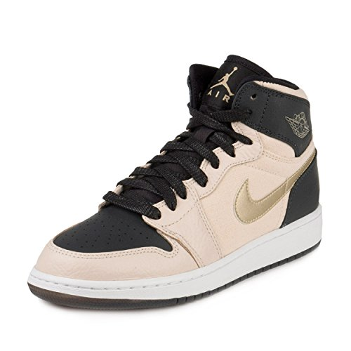 Jordan 1 Ret Hi Prem HC Big Kids Style, PRL White/Metallic Gold Star/Black, 5 by Jordan