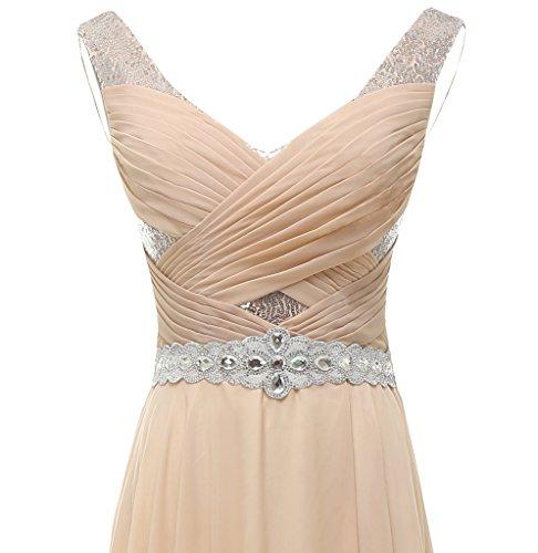 Gown Women's Dress Bridesmaid Line Evening Prom Green A Beaded Dress Solovedress Chifffon awBqU
