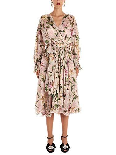 Dolce e Gabbana Luxury Fashion Woman F6E3LTHS147HFKK8 Multicolor Silk Dress   Fall Winter 19