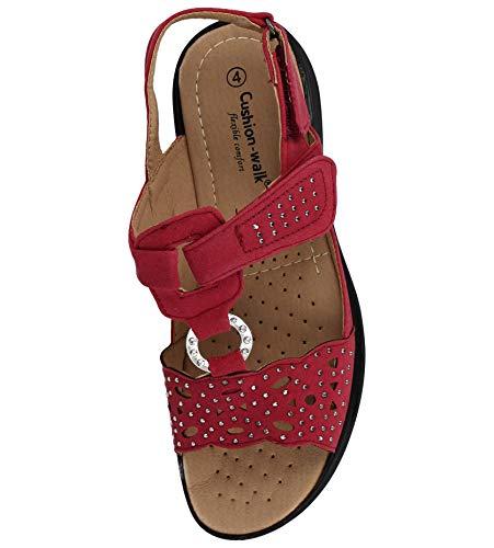 Cushion Femme Cushion Walk Femme Red Sandales Walk Red Cushion Sandales aftFaUq
