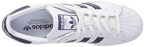 adidas Women's Superstar W White/Purple Night/White sale countdown package with mastercard for sale eF7BQ5