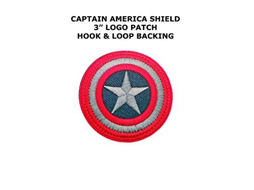 [Captain America Superhero Embroidered Hook & Loop Comics Cartoon Theme Logo Patch/Applique] (Easy Male Villain Costumes)