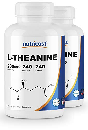 Nutricost L-Theanine 200mg, 240 Capsules - Double Strength (2 Bottles)