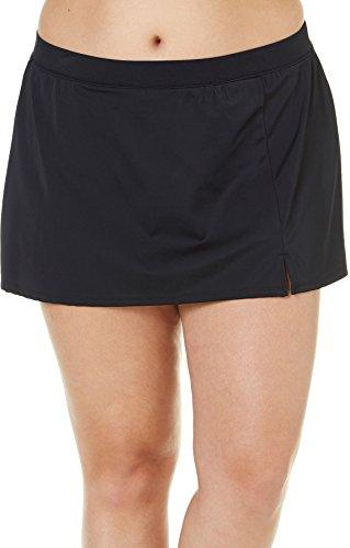 cb2ca3dbb31 Caribbean Joe Plus Size Solid Slit Swim Skirt Women s Swimsuit Black 24W