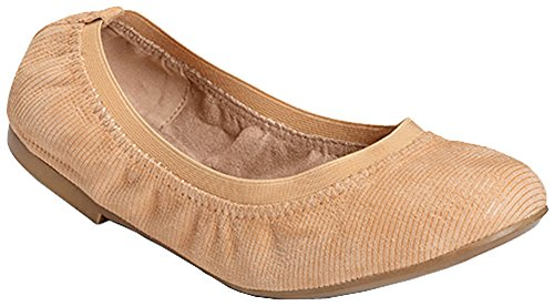 Aerosoles Womens Fable Ballet Flats, Light Tan Suede, Size 7.5