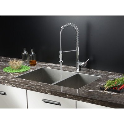 Ruvati RVC1611 Stainless Steel Kitchen Sink and Chrome Fauce