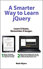 Using the Smarter Way to Learn method, you actually learn jQuery, you don't just read about it.       Research shows that you learn four times as effectively when you practice after you read. So each chapter is paired with free, intera...