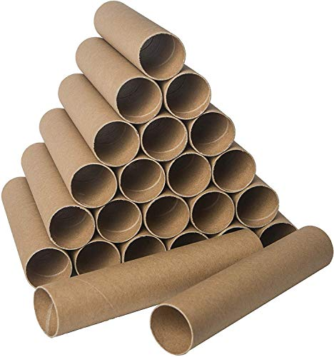 30 Pack Craft Rolls – 8 inch Round Cardboard Tubes – Cardboard Tubes for Crafts – Craft Tubes – Paper Tube for Crafts…