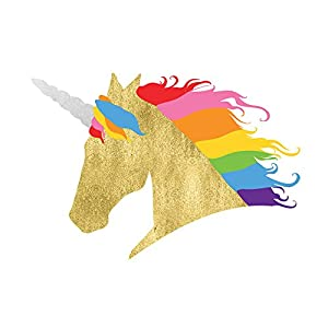 RAINBOW UNICORN set of 25 premium waterproof temporary colorful metallic gold jewelry foil Flash Tattoos – party favors