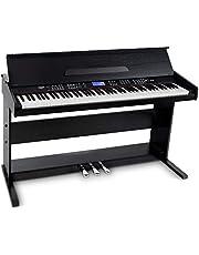 FunKey DP-88 II Digitalpiano (88 anschlagsdynamische Keyboard-Tasten, 128-fach polyphon, 360 Sounds, 160 Styles, MP3-Player, Lernfunktion, Record- & Playback-Funktion, 3 Pedale) schwarz