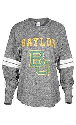 Official NCAA Baylor University Bears Judge Joy Women's Long Sleeve Tri- Blend Football Tee