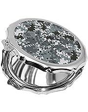 مرآة جيب، بتصميم لباس الجيش، شكل دائري