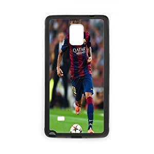 [Neymar Jr Series] Samsung Galaxy Note 4 Cases Neymar Jr. Barcelona Bokeh, Samsung Galaxy Note 4 Case Yearinspace - Black