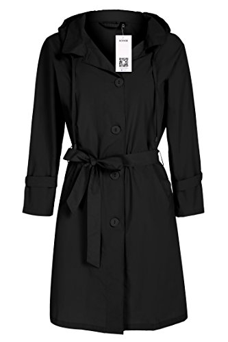 - ACEVOG Womens Raincoat Jacket Waterproof Outdoor Sports Clothes Rain Coat
