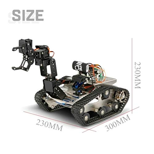 FORESTIME RC Tank TH Robot WiFi Smart DIY Crawler RC Robot Tank 480P Camera RC Auto (Black, Big) by FORESTIME (Image #2)