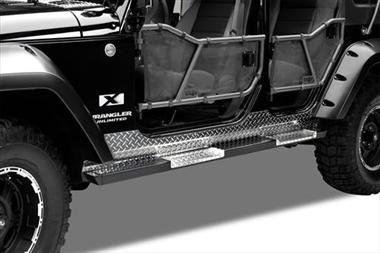- Warrior Products 7410A Rock Bars with Front and Rear Steps for Jeep JK Unlimited 07-10