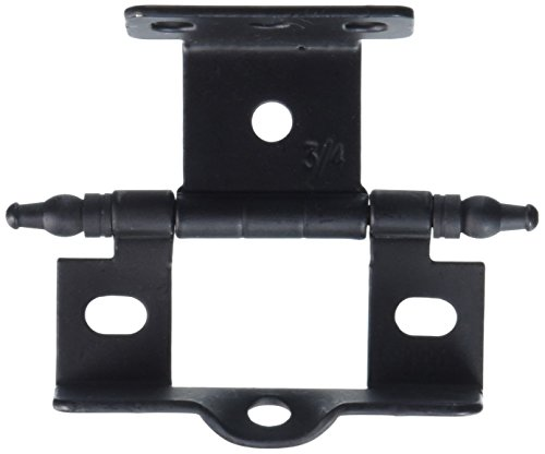 Flat Black Urn Tip Full Back-to-Back Wrap-Around Hinges (Wrap Hinge Full)
