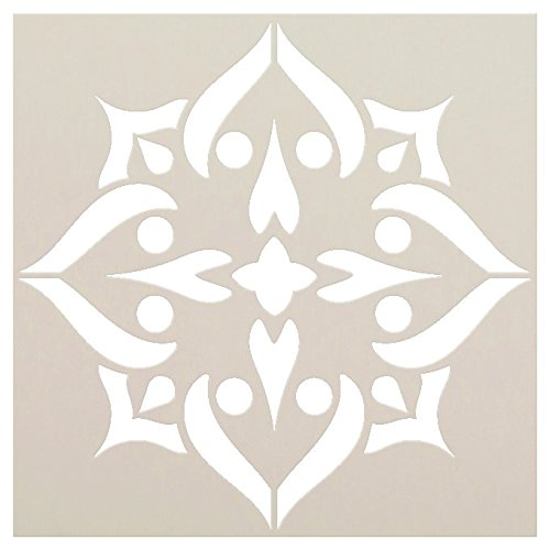Mandala Spade Stencil by StudioR12 | Reusable Mylar Template | Paint Wood Signs - Fabric | Craft Rustic Bohemian Home Decor - Bedroom - Dorm | DIY Vintage Flower Pattern Wall Art | Select Size - XLG -