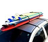 Block Surf Surfboard Roof Rack, Universal Fit for Cars and SUVs (Pro)