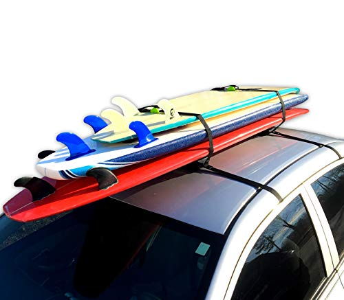 Block Surf Surfboard Roof Rack, Universal Fit for Cars and SUVs