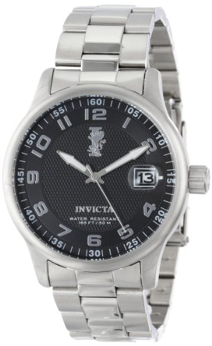 Invicta Men's 15258 I-Force Black Textured Dial Stainless Steel Watch, Watch Central