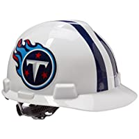 MSA NFL Team Safety Helmets with One-Touch Adjustable Suspension and Hard Hat Tote - Carolina Panthers 2
